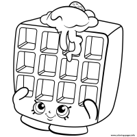 Breakfast Waffles Coloring Pages Coloring Pages