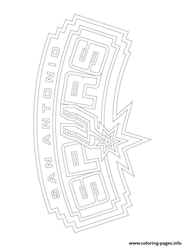 San Antonio Spurs Logo Nba Sport Coloring Pages Printable