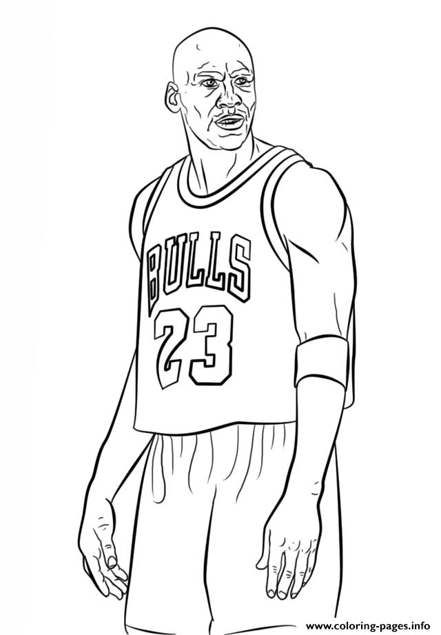 Michael Jordan Nba Sport Coloring Pages Printable