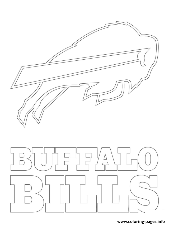 Buffalo Bills Logo Football Sport Coloring Pages Printable