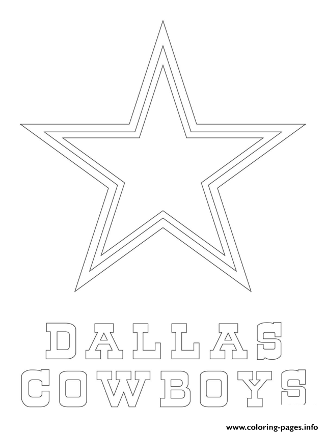 Dallas Cowboys Logo Football Sport Coloring Pages Printable