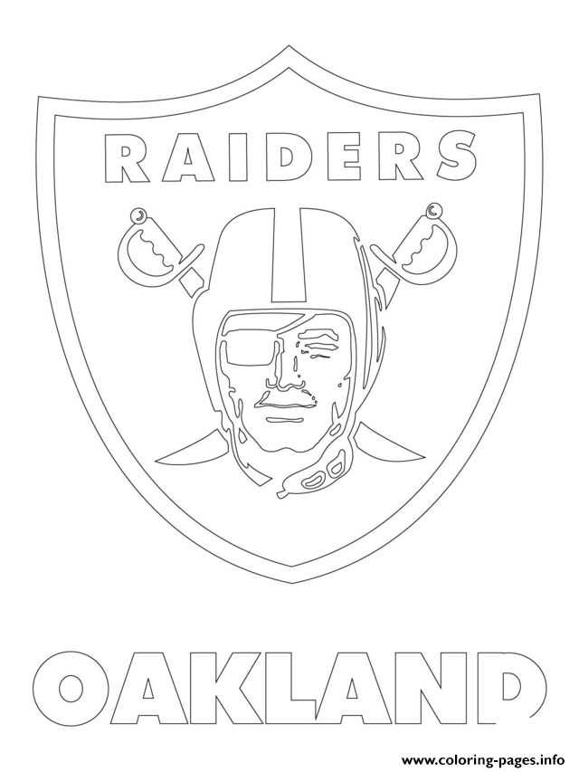 Oakland Raiders Logo Football Sport Coloring Pages Printable