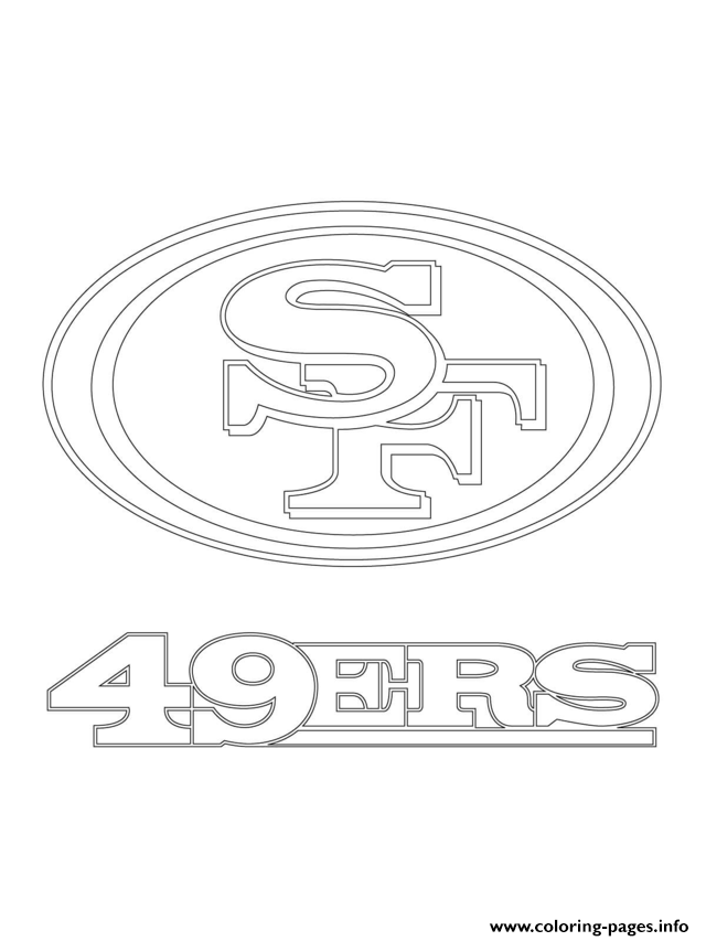 Coloring Pages 49ers Logo.San Francisco 49ers Logo