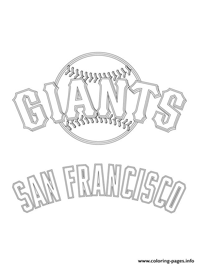 San Francisco Giants Logo Mlb Baseball Sport Coloring