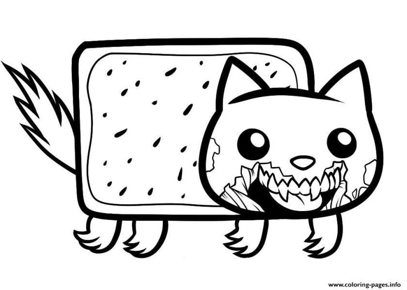 draw zombie nyan cat zombie nyan cat coloring pages printable