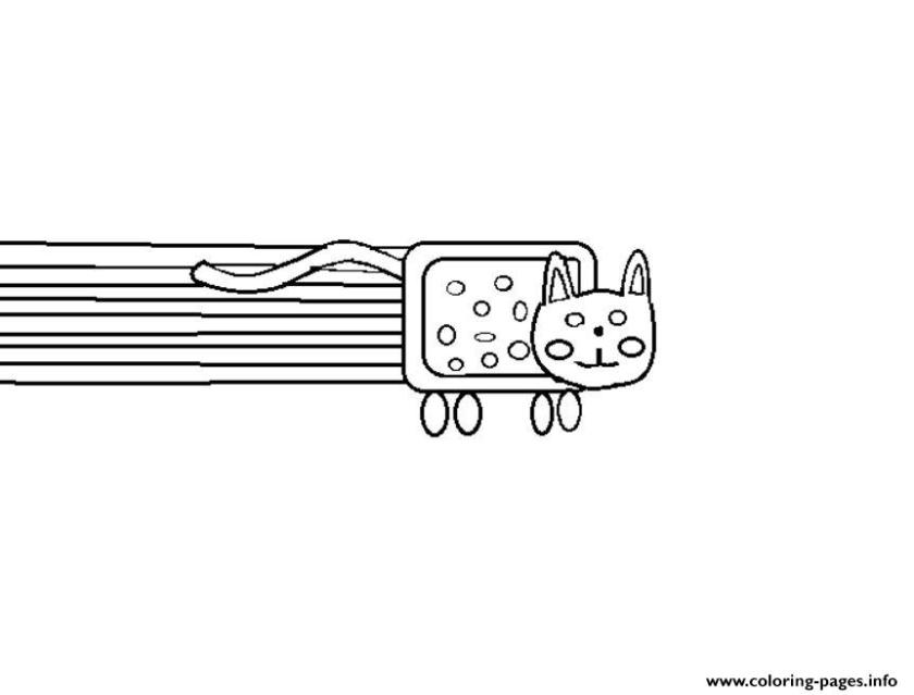 nyan cat fun coloring pages printable