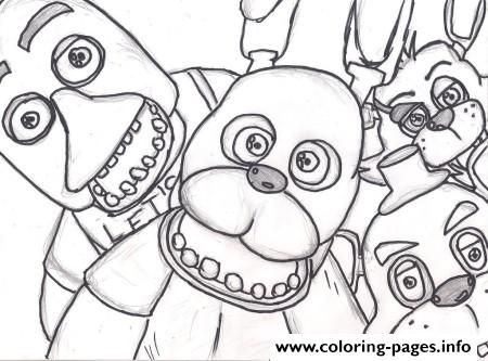 Family Fnaf 2 Coloring Pages Printable