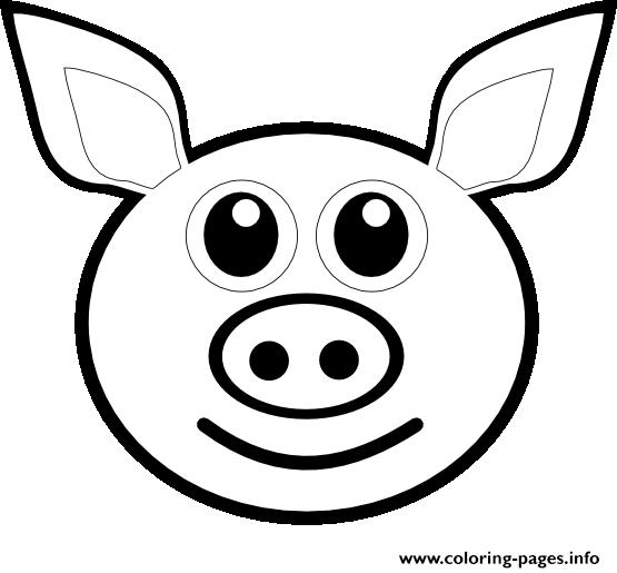 Pig Emoji Coloring Pages Printable
