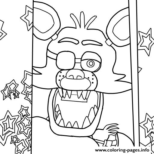 five nights at freddys fnaf foxy to color coloring pages