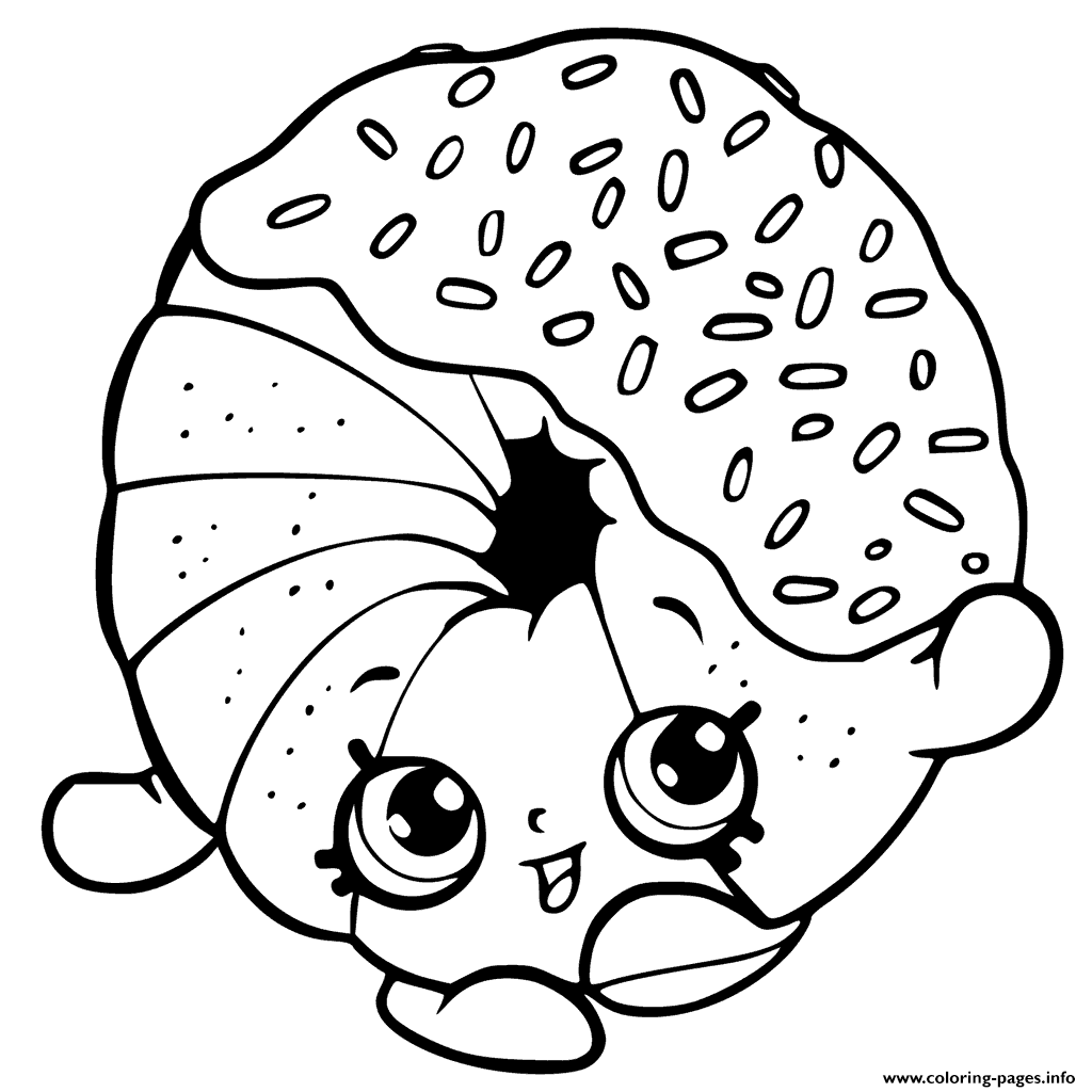 Printable Donut Coloring Pages Sketch Coloring Page