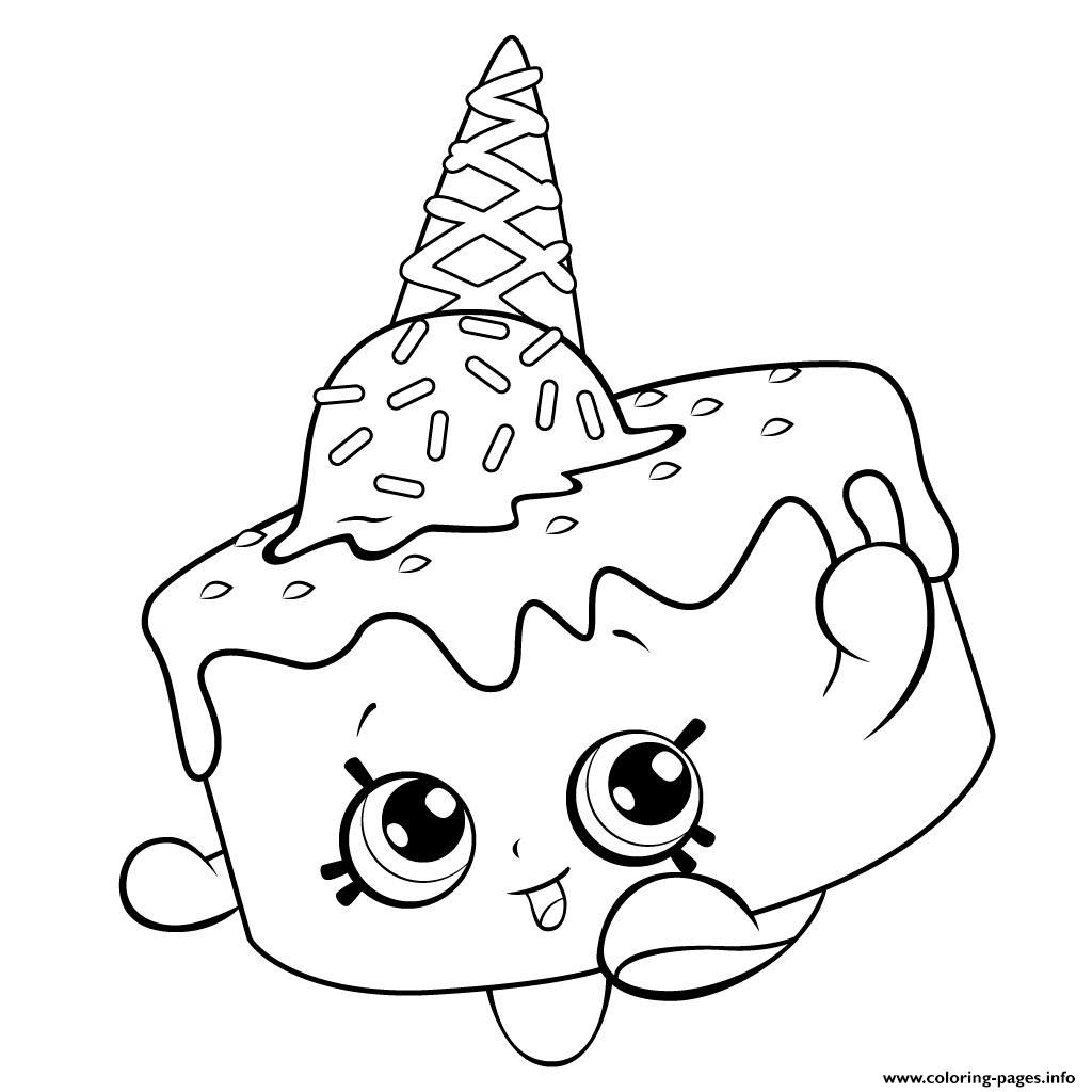 Ice Cream Coloring For Free Shopkins Season 5 Coloring