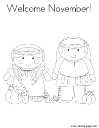 Welcome November Coloring Pages Printable