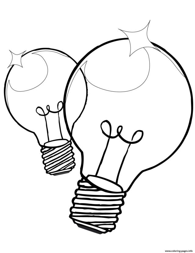 Christmas Light Bulb Coloring Page Coloring Pages Printable