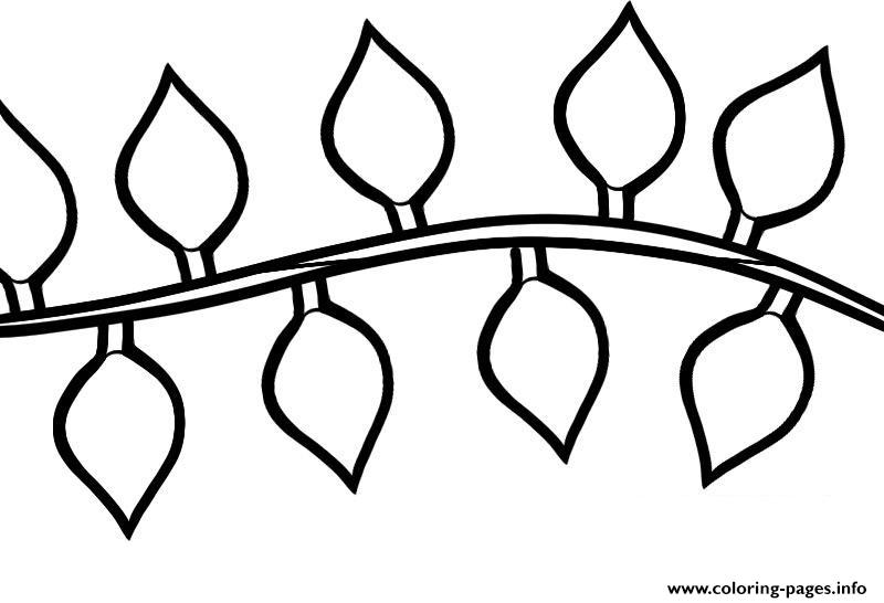Christmas Light String Drawing Coloring Pages Printable