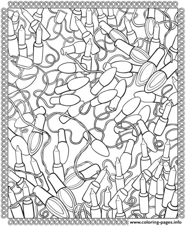 christmas lights coloring pages # 5