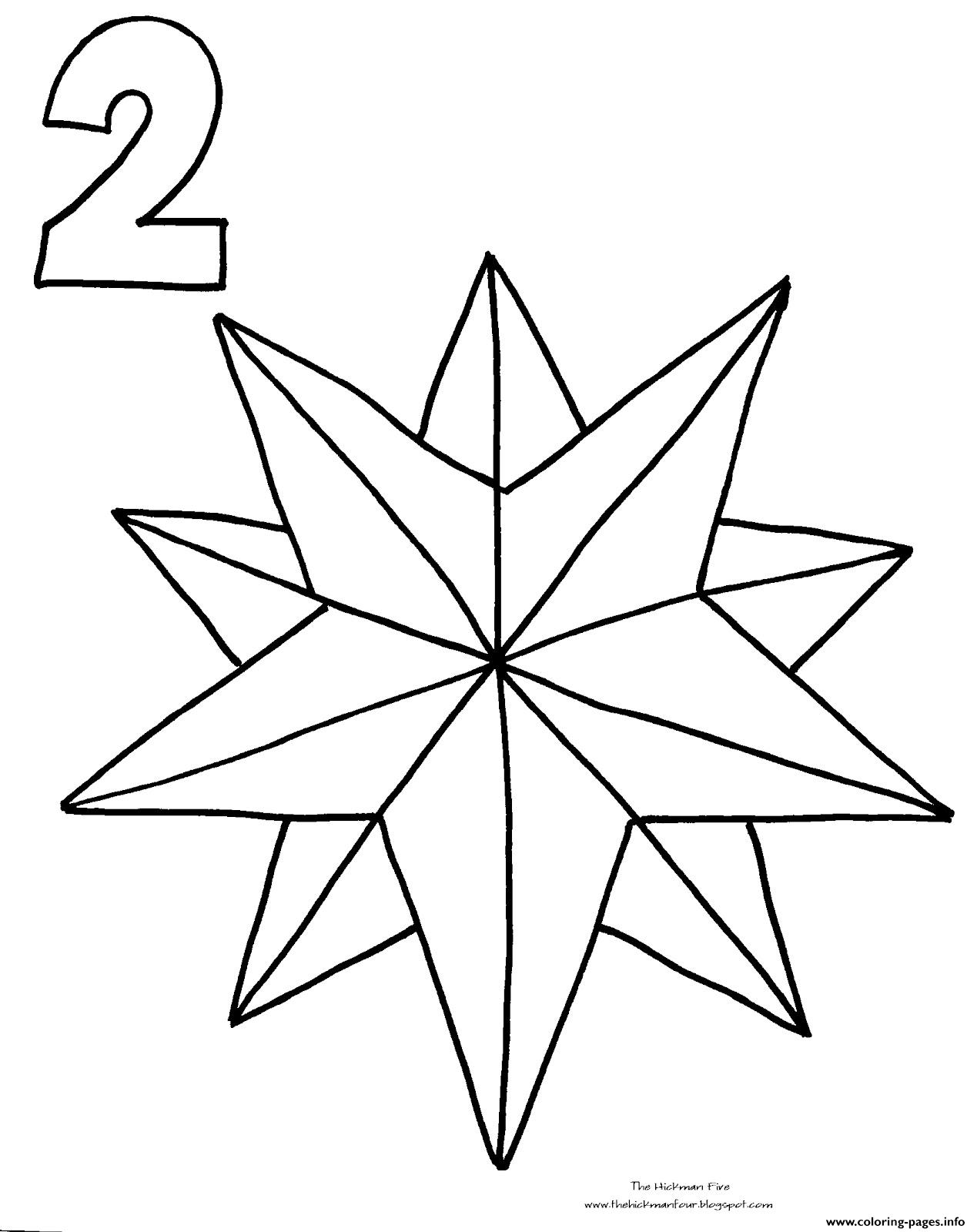 Christmas Star Countdown Coloring Pages Printable