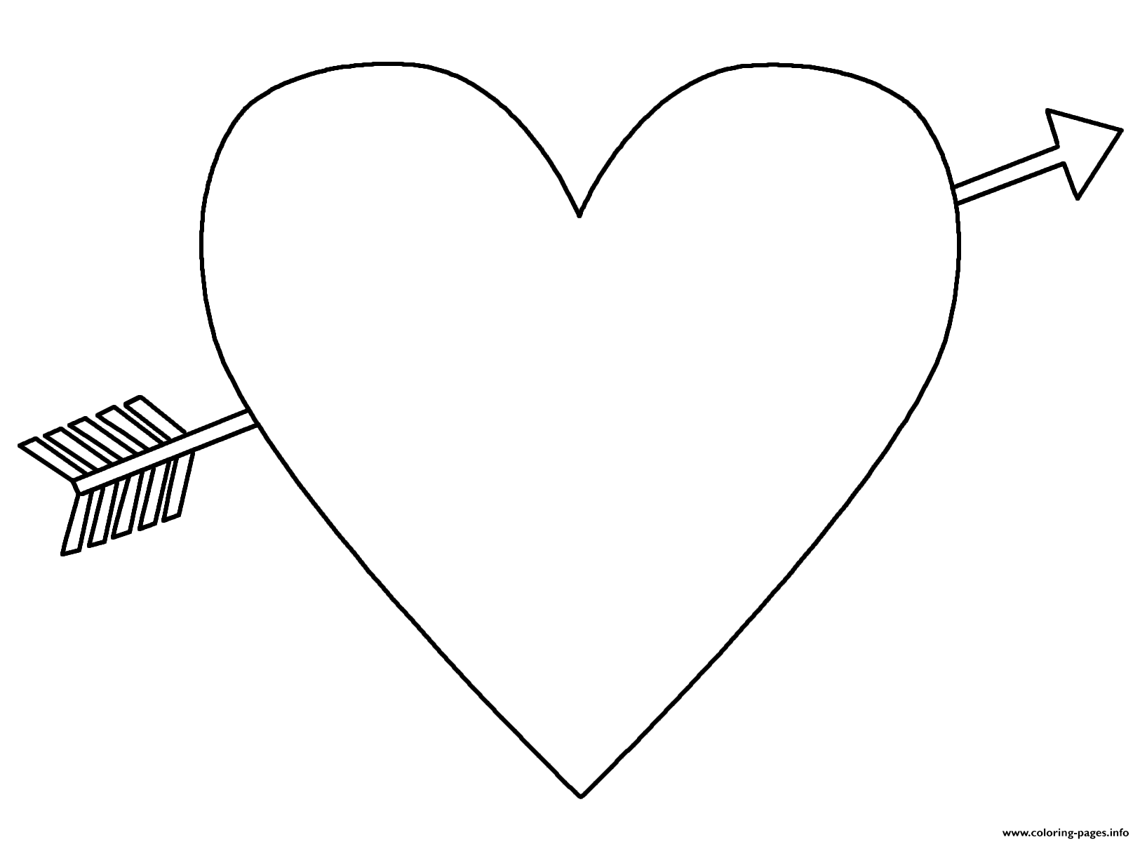 Heart With An Arrow Emoji Coloring Pages Printable