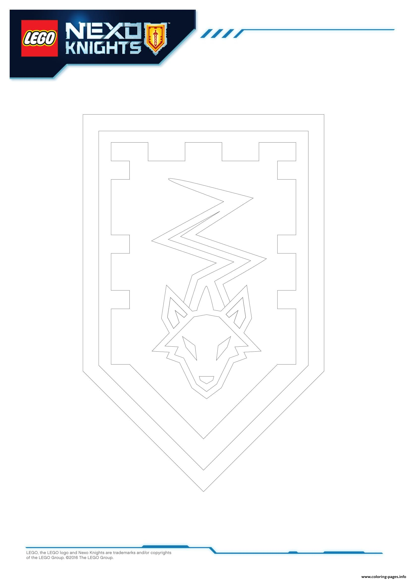 Lego Nexo Knights Shields 5 Coloring Pages Printable