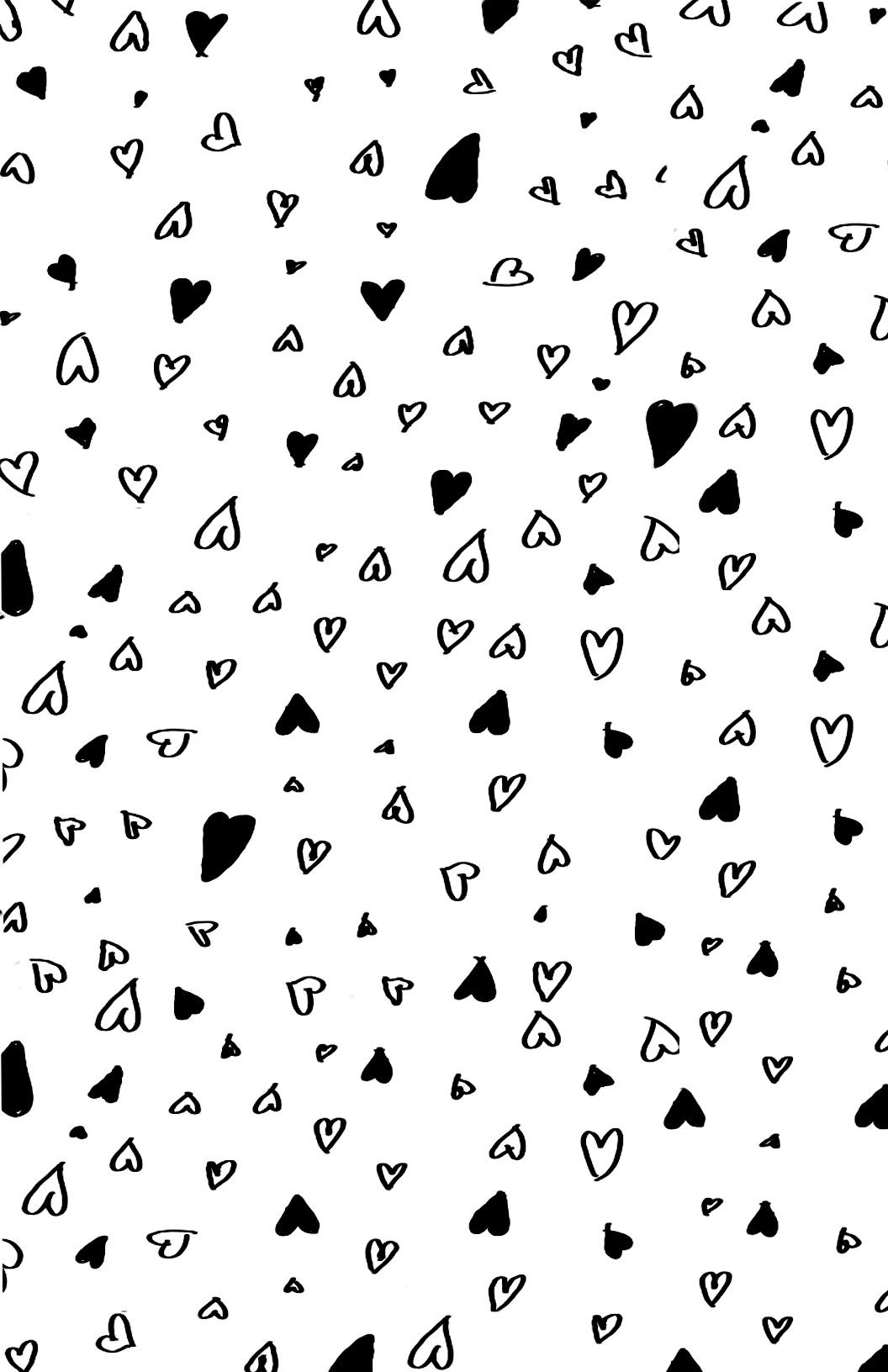 Printable Hearts Love Valentines Day Wrapping Paper