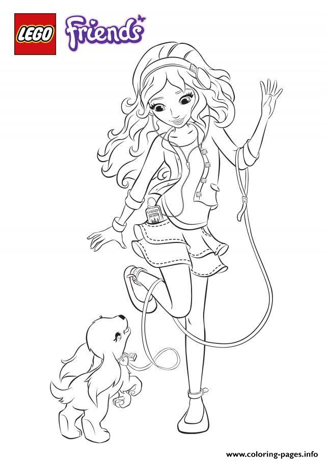 Lego Friends Coloring Pages : friends, coloring, pages, Friends, Coloring, Pages, Printable