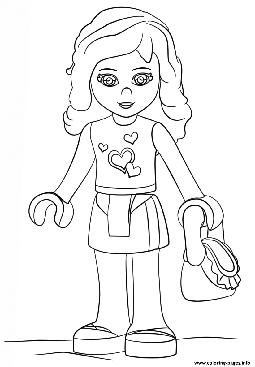 Lego Friends Coloring Pages : friends, coloring, pages, Friends, Olivia, Coloring, Pages, Printable