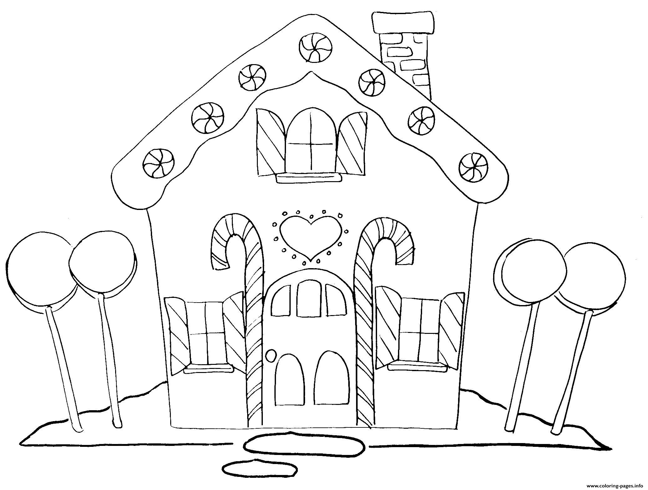 Gingerbread House 2 Coloring Pages Printable