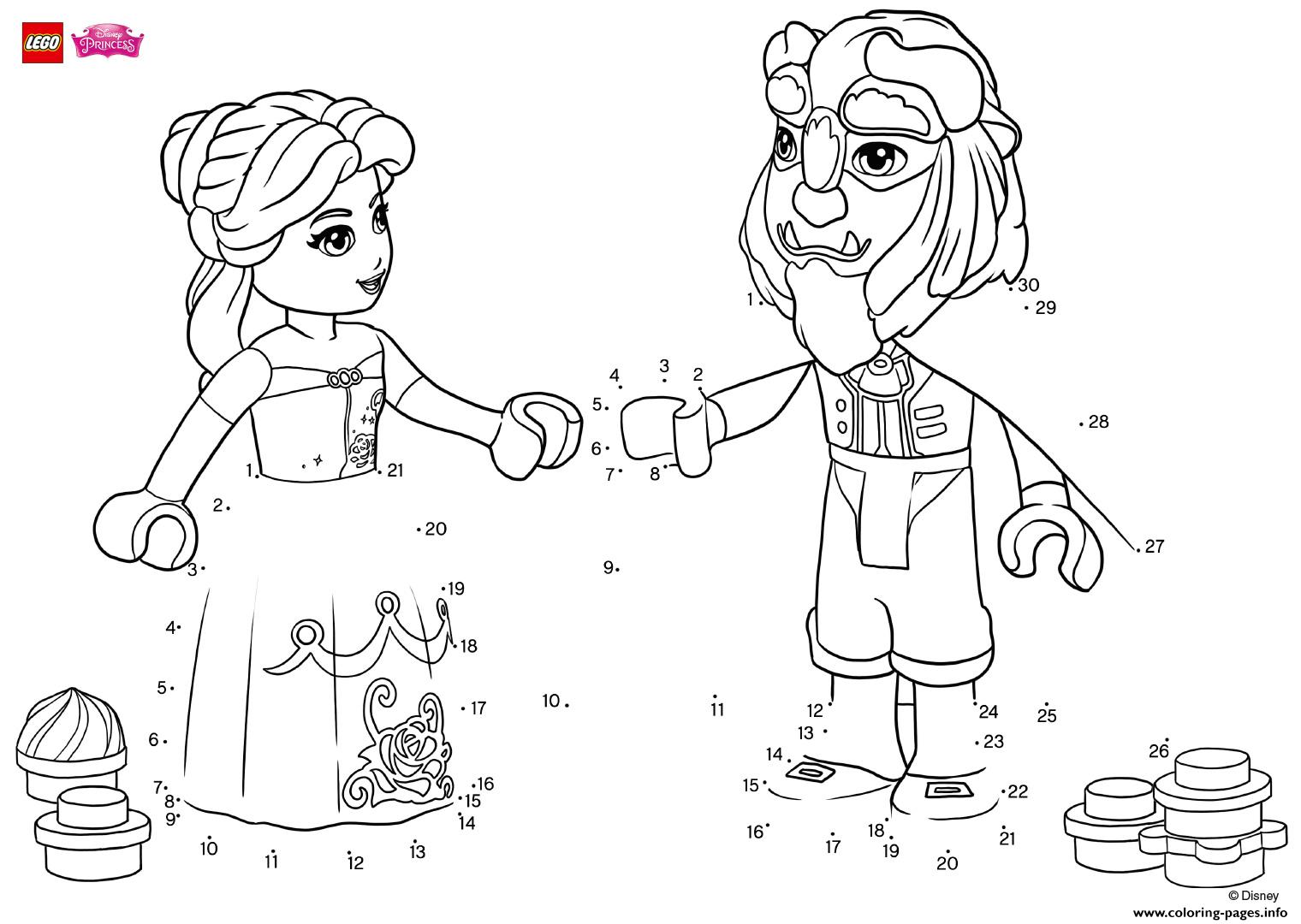 Have Fun Completing The Drawing Of Beauty And The Beast