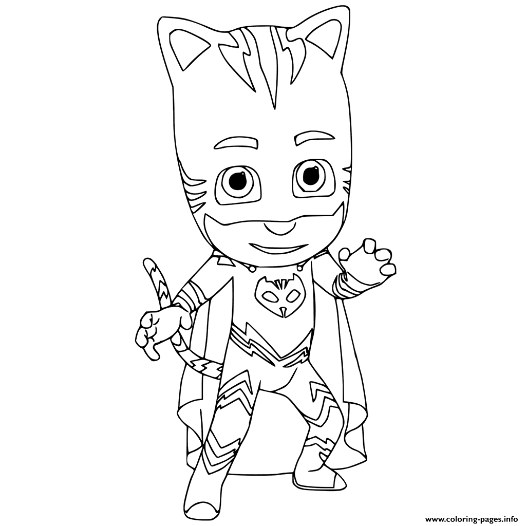 Catboy Pj Mask Coloring Pages Printable