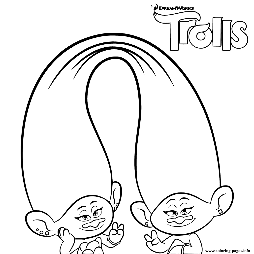 Trolls Coloring For Girls Coloring Pages Printable
