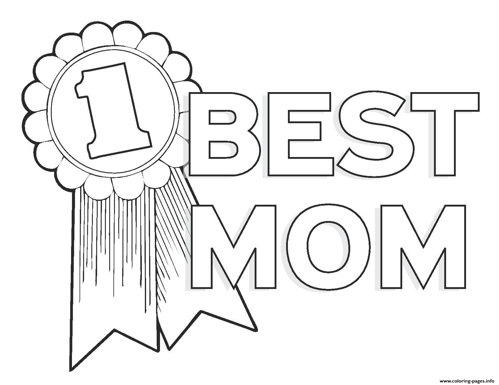 Worlds Best Mom Mothers Day Best Mom Number 1 Coloring