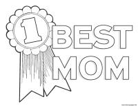 Worlds Best Mom Mothers Day Best Mom Number 1 Coloring ...