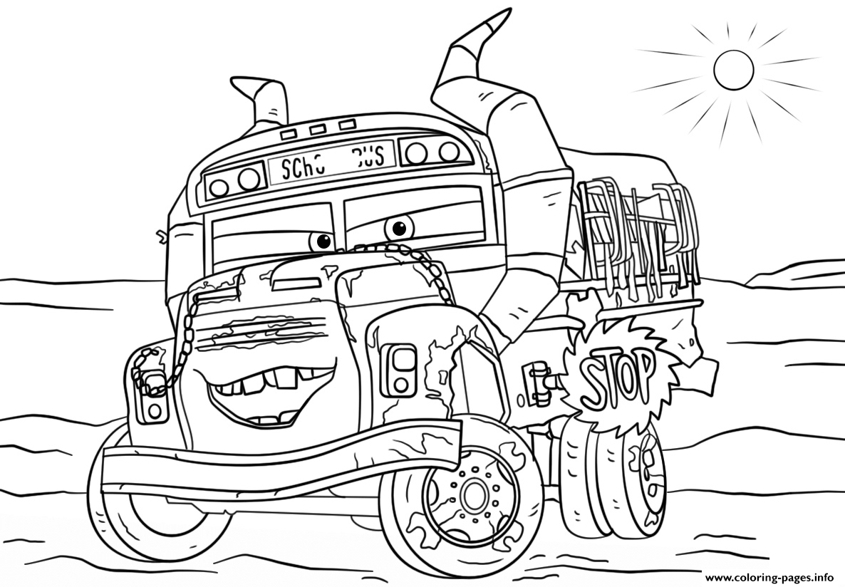 Disney Cars Coloring Pages Free Printable
