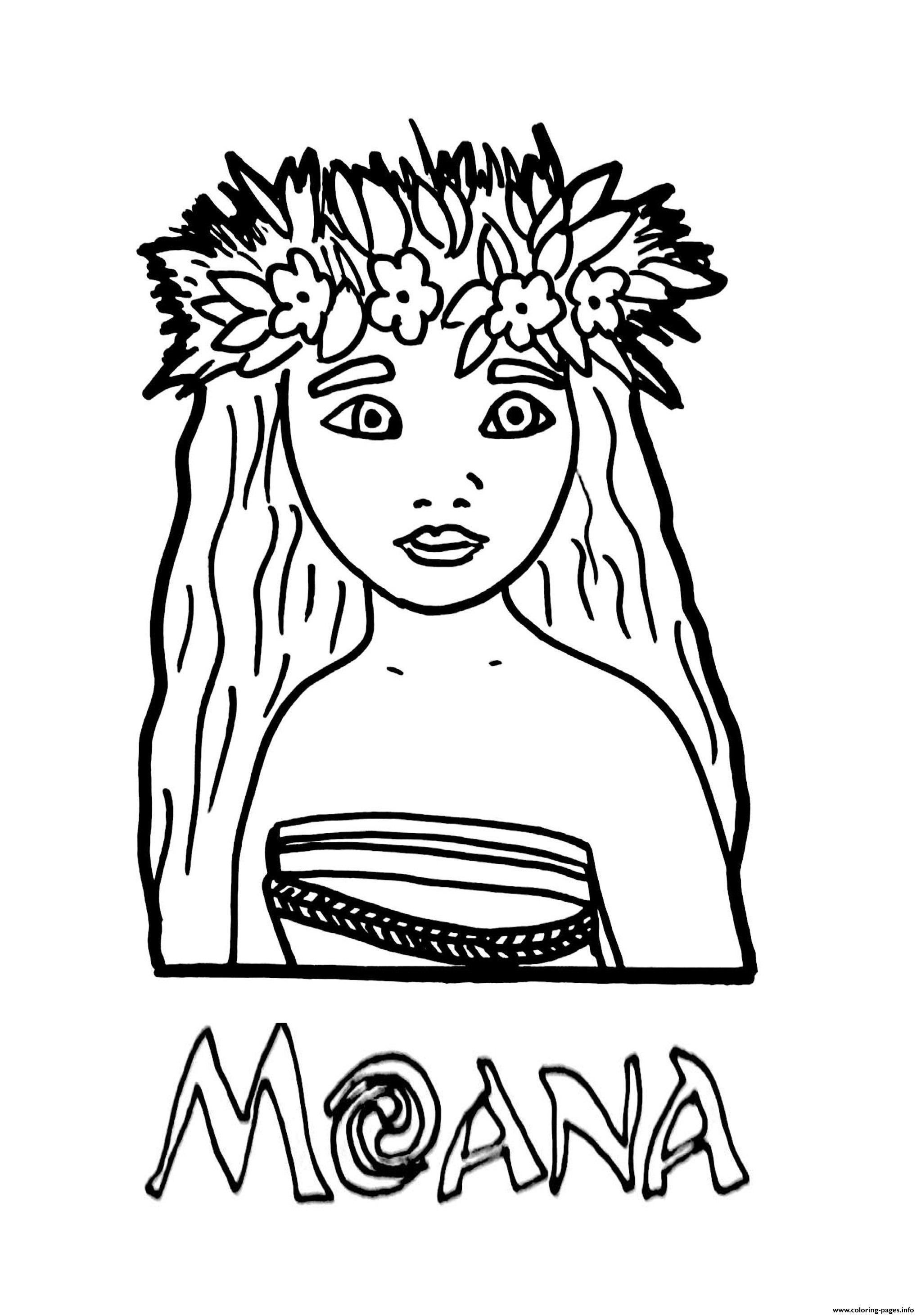 Coloring book info princess -  Moana Princess Printable Coloring Pages Book