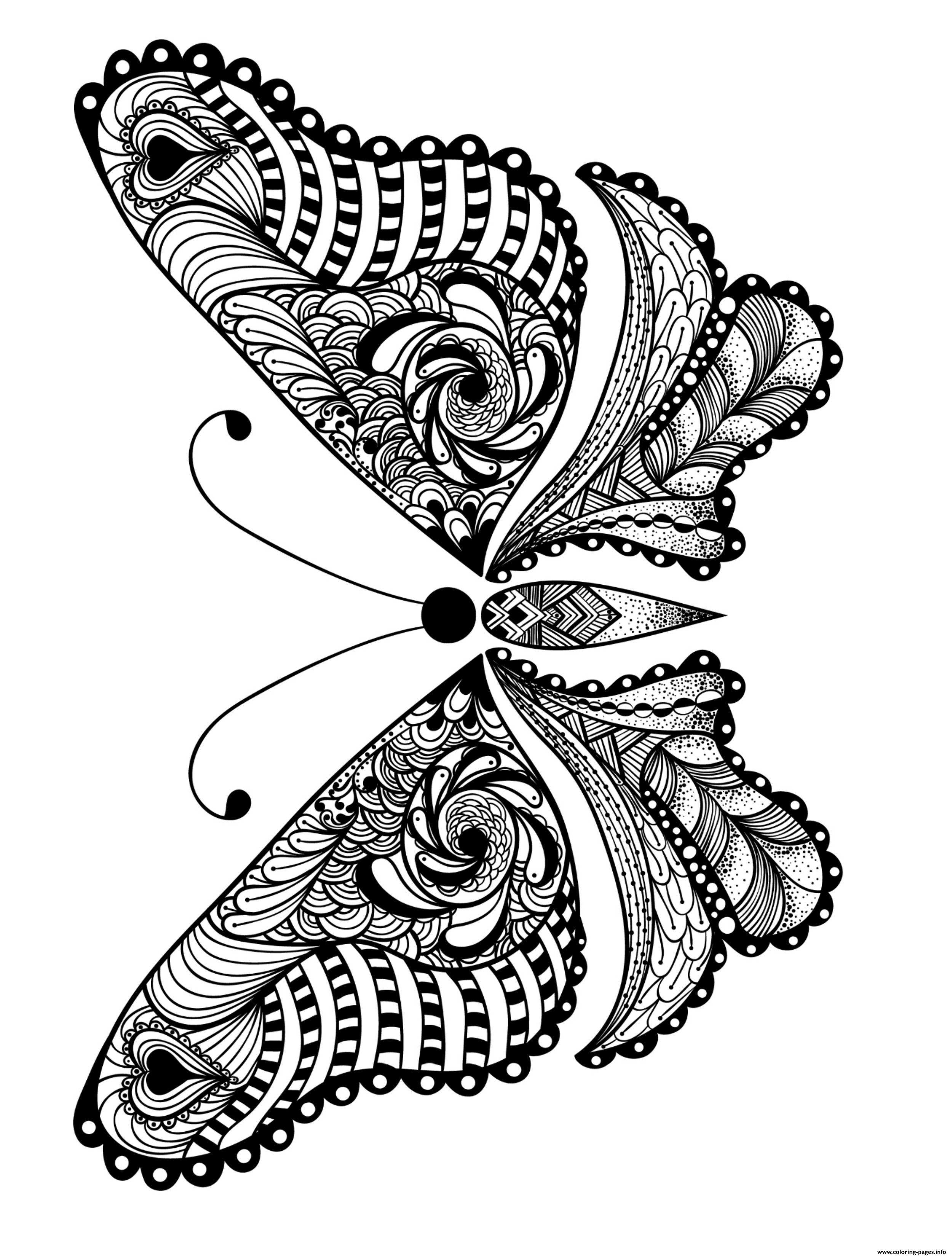 Advanced Insect Animal Adult Coloring Pages Printable