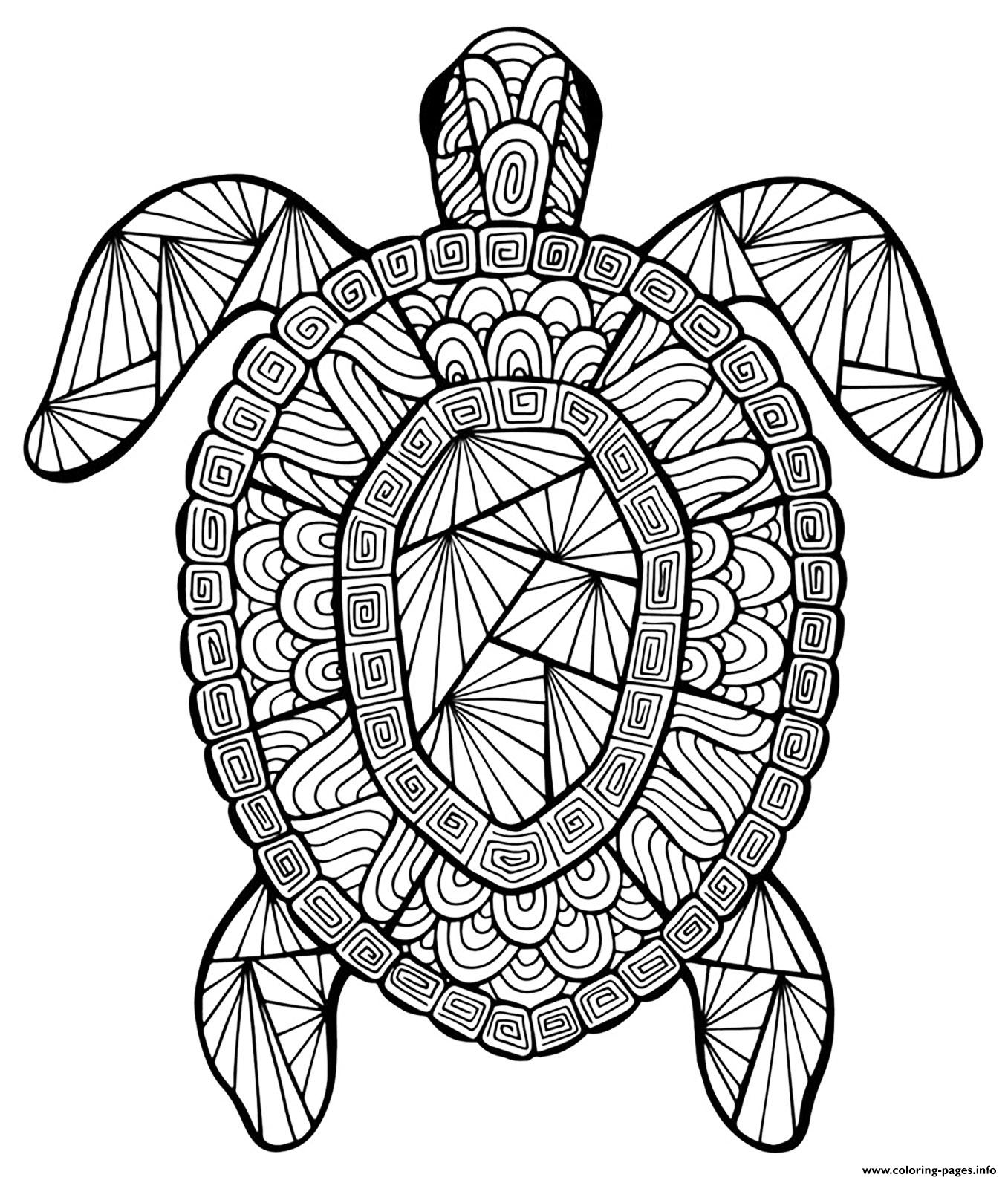 Advanced Animal Incredible Turtle Coloring Pages Printable
