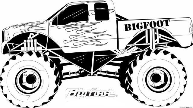 Monster Truck Bigfoot Big Foot Kids Coloring Pages Printable
