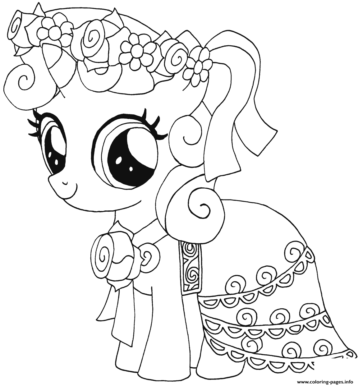 Sweetie Belle My Little Pony Coloring Pages Printable