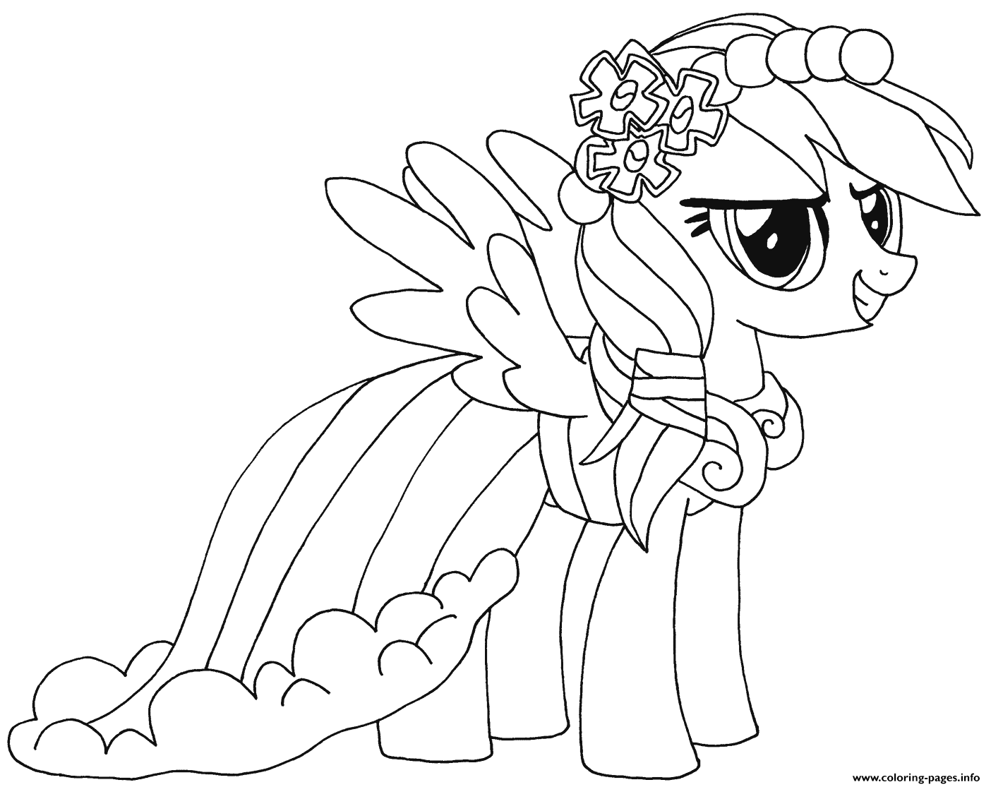 Rainbow Dash My Little Pony Coloring Pages Printable