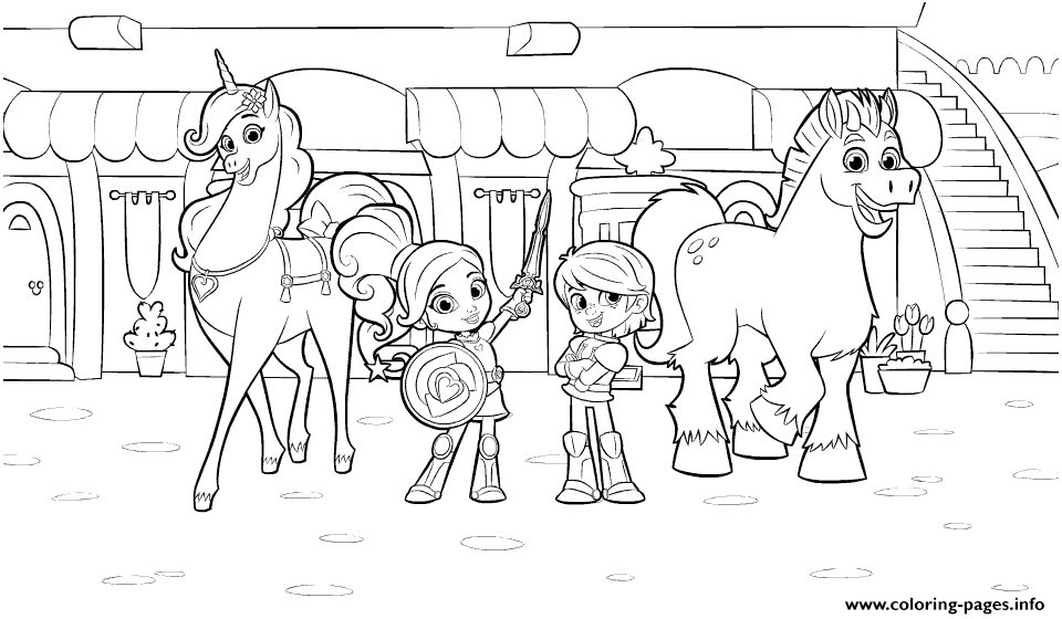 Nella The Princess Knight And Friends Coloring Pages Printable