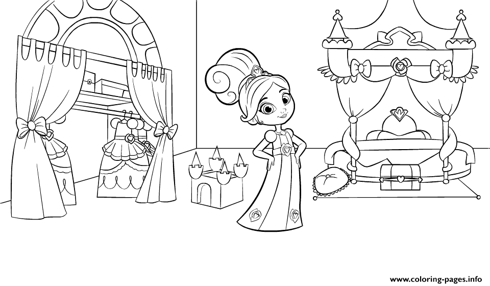 Nella The Princess Knight In Bedroom Coloring Pages Printable