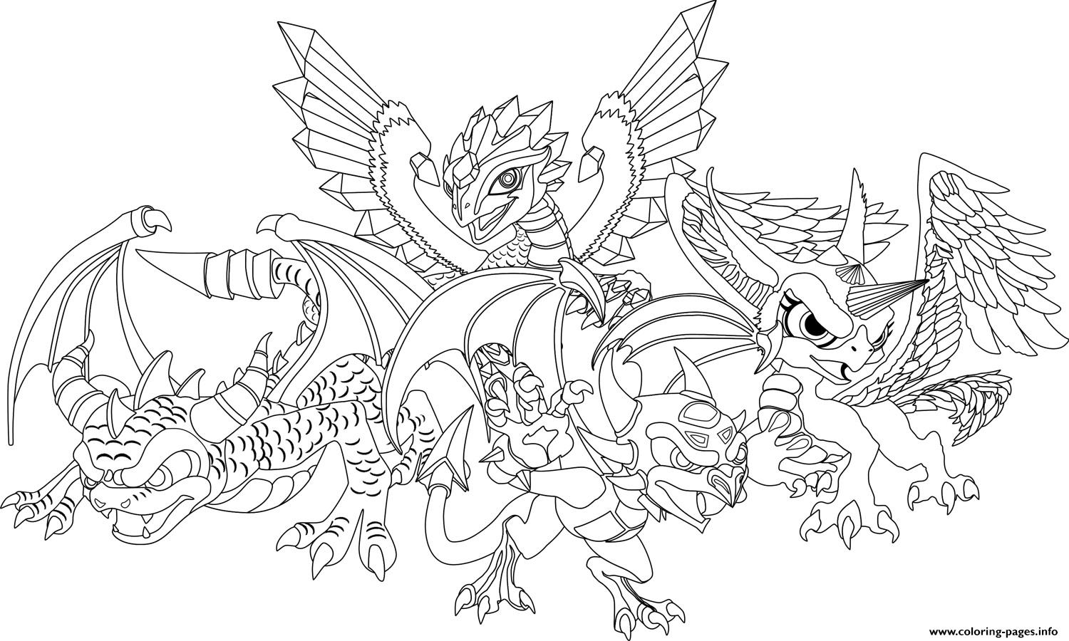 Dragon City Official Coloring Pages Printable