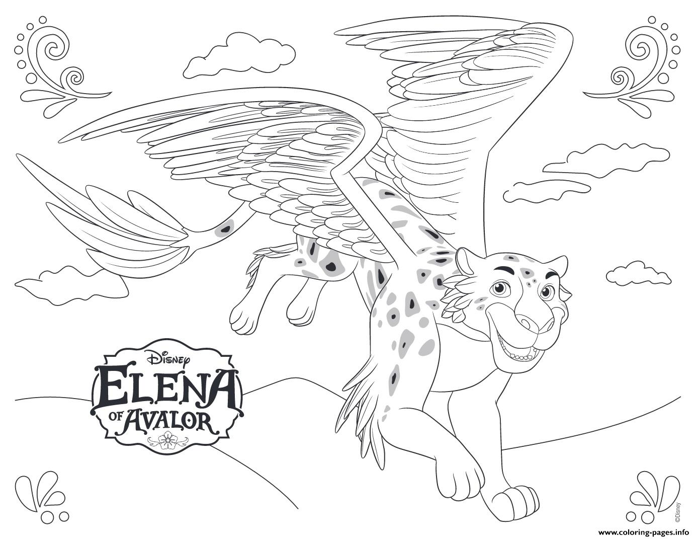 Elena Of Avalor Jaquin Disney Princess Coloring Pages Printable