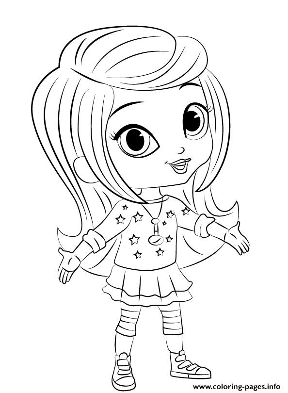 Shimmer And Shine Leah 1 Coloring Pages Printable