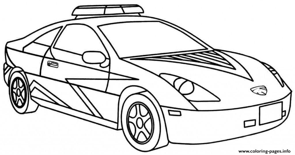 Cool Police Car Coloring Pages Printable