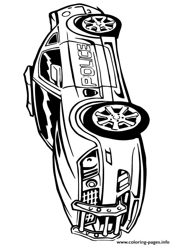 Transformers Police Car Color A4 Coloring Pages Printable