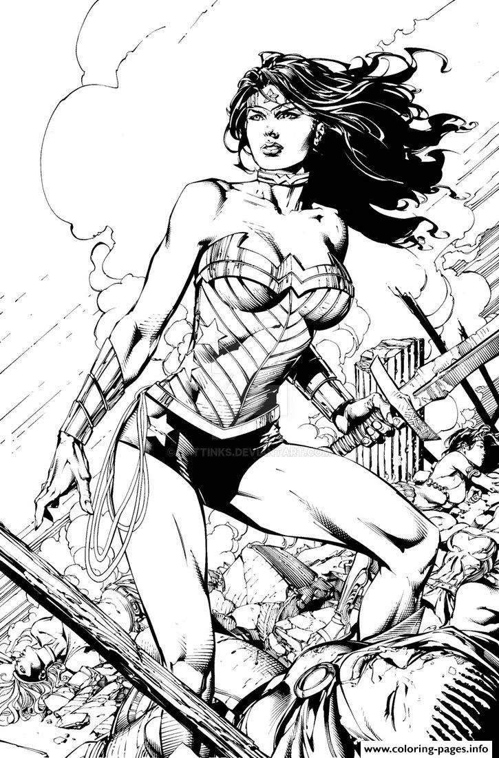 Wonder Woman By Battinks Dc Ics Coloring Pages Printable