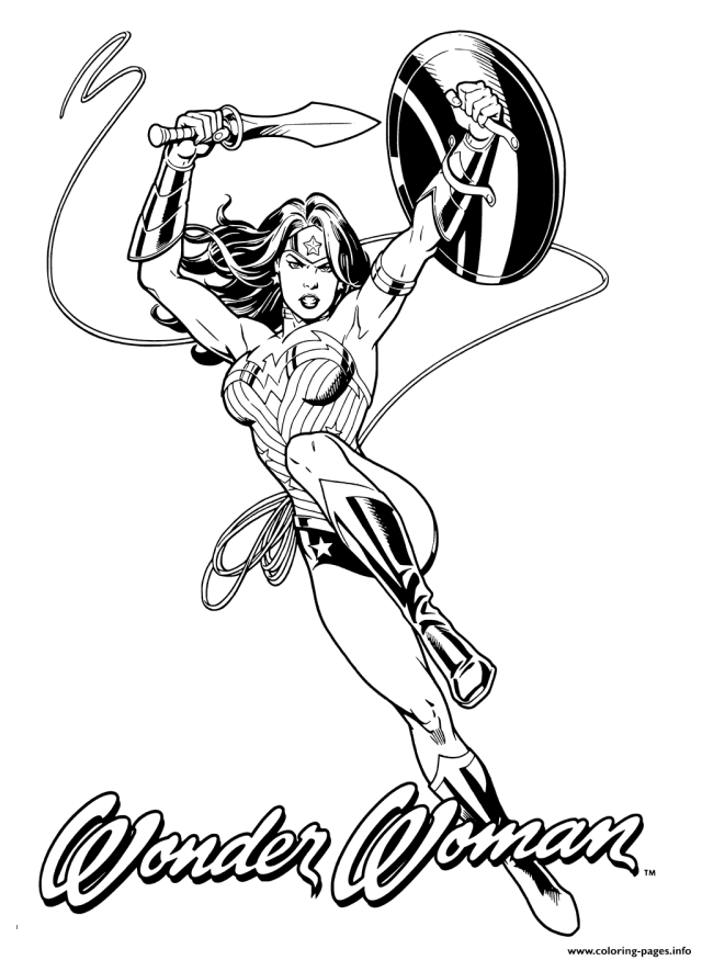 Wonder Woman For Adult Heroes Coloring Pages Printable
