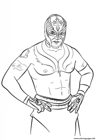 Rey Mysterio Coloring Page Coloring Pages Printable