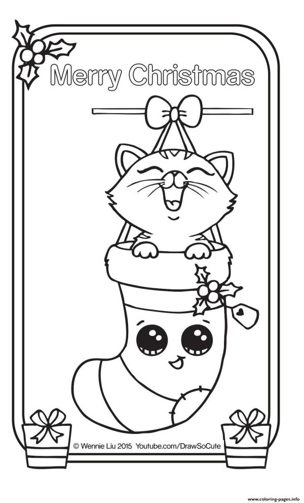 christmas card coloring pages # 48