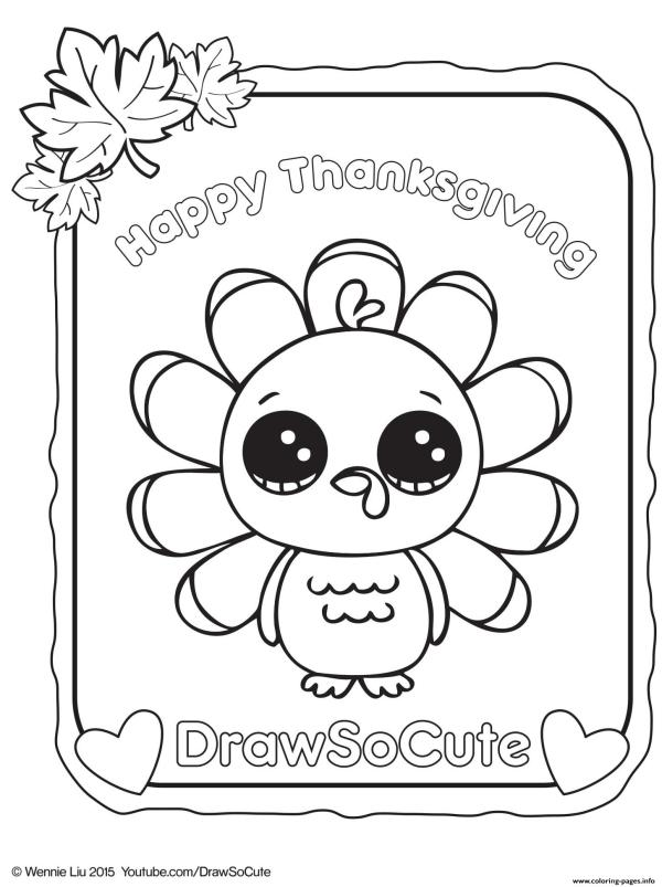 coloring page turkey # 20